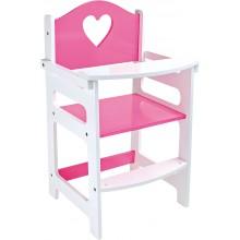 Small Foot Vysoká dřevěná židle růžová