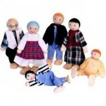 Dřevěné hračky Woody - Panenky do domečku, 6 ks