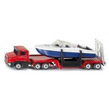 Siku Kovový model auta podvalník s člunem