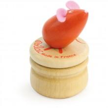 Vilac Dřevěný box na zoubky Myška oranžová