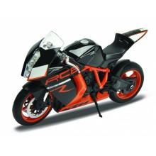 Welly - Motocykl KTM 1190 RC8 R 1:10 černooranžový