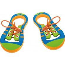 Small Foot Hra Zavaž si tkaničku Pár bot - poškozený obal