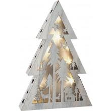 Small Foot Dřevěný vánoční stromeček se světlem malý