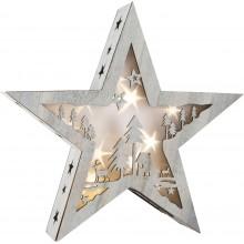 Small Foot Dřevěná vánoční hvězda se světlem