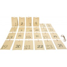 Small Foot Adventní kalendář papírové taštičky