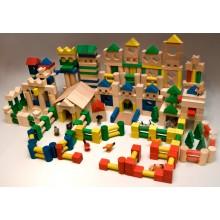 EkoToys Dřevěné kostky barevné 500 ks