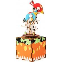 Small Foot Dřevěná stavebnice muzikální dekorace ptáčci