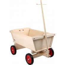 Dřevěné hračky - Dřevěný tahací vozík pro děti