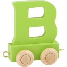 Dřevěný vláček barevná abeceda písmeno B