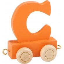 Dřevěný vláček barevná abeceda písmeno C