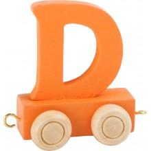 Dřevěný vláček barevná abeceda písmeno D