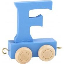 Dřevěný vláček barevná abeceda písmeno F