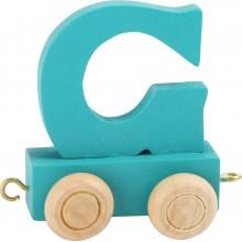 Dřevěný vláček barevná abeceda písmeno G