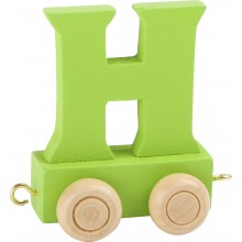 Dřevěný vláček barevná abeceda písmeno H
