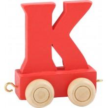 Dřevěný vláček barevná abeceda písmeno K