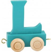Dřevěný vláček barevná abeceda písmeno L