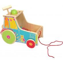 Dřevěná motorická hra - Traktor s xylofonem