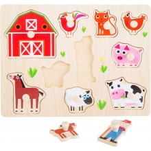 Small Foot Dřevěné puzzle farma