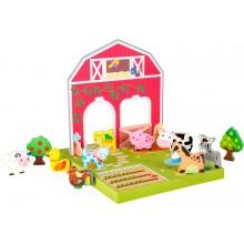 Small Foot Dřevěná hračka farma se zvířátky