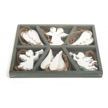 Small Foot Dřevěné vánoční ozdoby anděl - poškozený obal