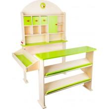 Dřevěný prodejní stánek - zelený
