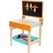 Small Foot Dřevěný sklápěcí pracovní stůl 2v1