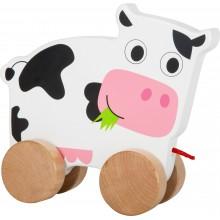 Dřevěná tahací kravička