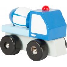 Dřevěná autíčka - Stavební stroje 1 ks míchačka