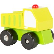 Dřevěná autíčka - Stavební stroje 1 ks náklaďák