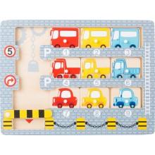 Small Foot Vkládací puzzle garáž s autíčky