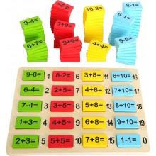 Small Foot Dřevěná barevná matematická tabulka součty