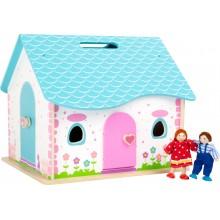 Small Foot Dřevěný skládací domeček pro panenky