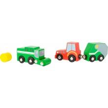 Small Foot Set barevných zemědělských strojů
