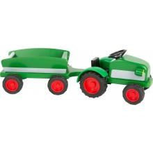 Small Foot Dřevěný traktor s vlečkou zelený