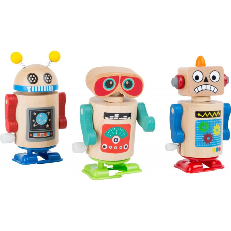 Small Foot Dřevěný natahovací robot 1ks červená