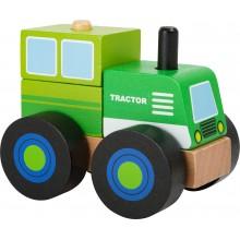 Small Foot Dřevěné skládací auto traktor