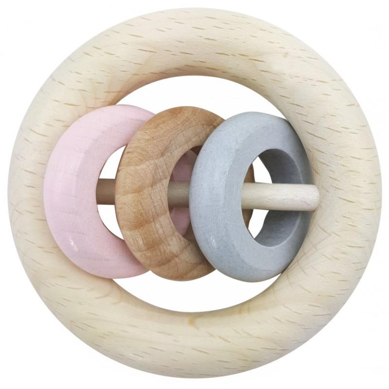Hess Chrastítko tři kroužky růžová