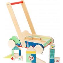 Small Foot Dřevěný vozík s kostkami Move it!