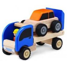 Dřevěné hračky - dřevěné auto - Mini odtahové auto