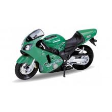 Welly - Motocykl Kawasaki Ninja ZX-12R (2001) model 1:18 zelená