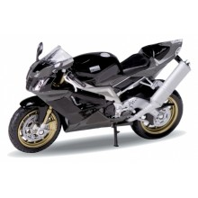 Welly - Motocykl Aprilia RSV1000R Factory model 1:18 šedá