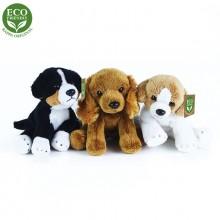 Rappa Plyšový pes sedící 14 cm ECO-FRIENDLY 1ks béžová