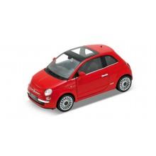 Welly - 2007 Fiat 500 A4 1:24 červený