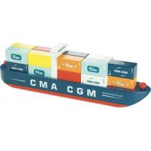 Vilac Vilacity dřevěná nákladní loď s kontejnery