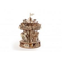 Ugears 3D dřevěné mechanické puzzle Kolotoč