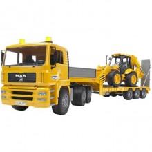 Bruder - Nákladní auto MAN - návěs + traktor JCB