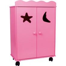 Small Foot Dřevěná skříň pro panenky růžová