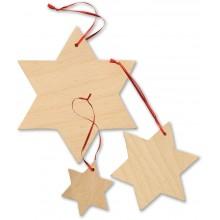Small Foot Dekorace dřevěné hvězdy 15 ks