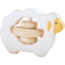 Dřevěná hračka pro uchopení chrastítko Ovečka
