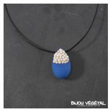 Živé šperky - Náhrdelník Slza midrý s trvalými bílými květy
